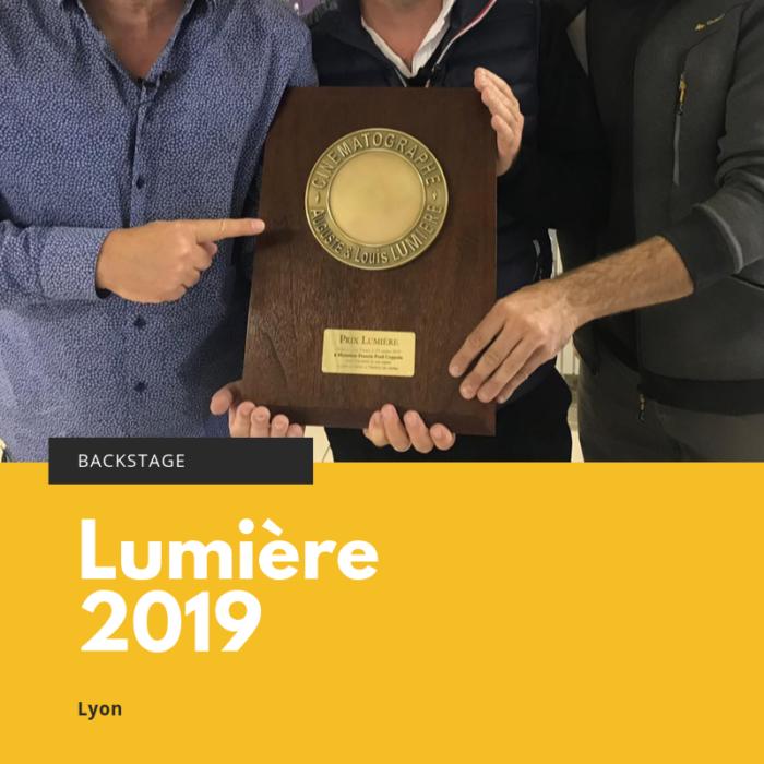 Backstage Prix Lumière